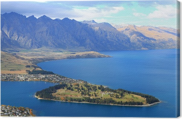 Closeup of queenstown new zealand canvas print