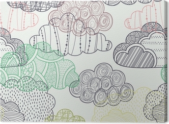 Clouds seamless pattern Canvas Print