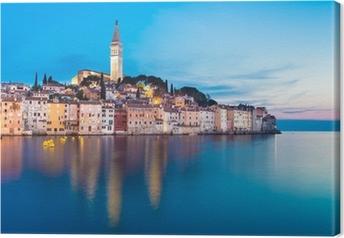 Coastal town of Rovinj, Istria, Croatia. Canvas Print