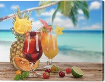 Cocktails on the beach Canvas Print