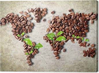Coffee around the world Canvas Print