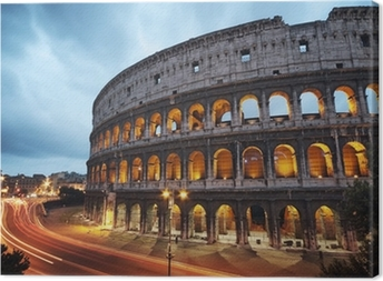 Coliseum at night. Rome - Italy Canvas Print