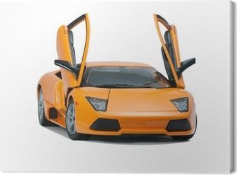 Collectible toy model Lamborghini front view Canvas Print