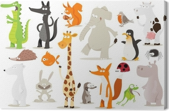 collection d'animaux pour enfants Canvas Print