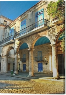 Colonial architecture in Havana Canvas Print