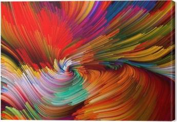 Color Vortex Composition Canvas Print