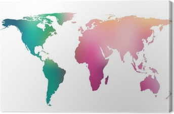 World map abstract vintage computer graphic of black lines wall colorful gradient world map vector background canvas print gumiabroncs Image collections