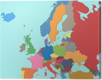 Colorful Map Of Europe Wall Mural Pixers We Live To Change