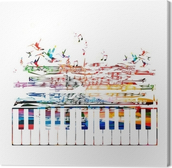 colorful music background Canvas Print