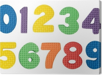 Colorful numbers Canvas Print