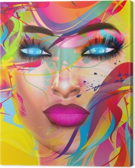 Abstract Digital Art Image Of A Woman S Face Perfect For Themes Of Art Fashion Youth Fun Self Expression And More Plus It S A 3d Render So No Worries About Any Model Releases