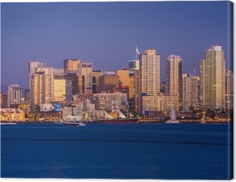 Colorful San Diego Skyline Canvas Print