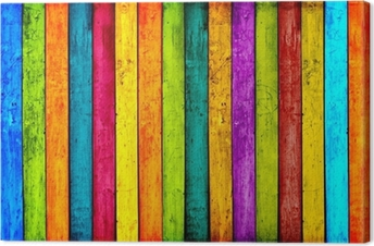 Colorful Wood Planks Background Canvas Print