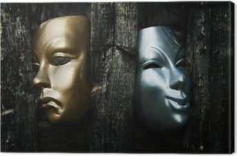 Comedy and Tragedy - Drama Theater Masks Canvas Print