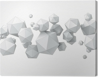 Composition of icosahedron for graphic design Canvas Print