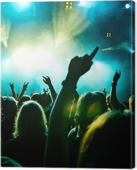 concert crowd in motion Canvas Print