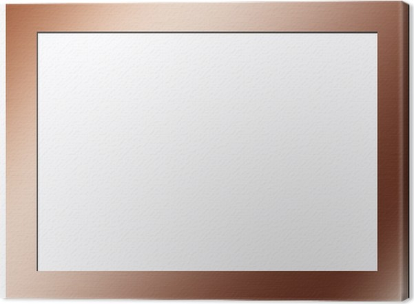 copper frame Canvas Print • Pixers® • We live to change
