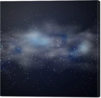 Cosmic space black sky background with blue stars nebula at night cosmic space black sky background with blue stars nebula at night vector illustration canvas print thecheapjerseys Images