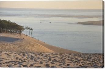 coucher de soleil sur la dune du pyla 12 Canvas Print