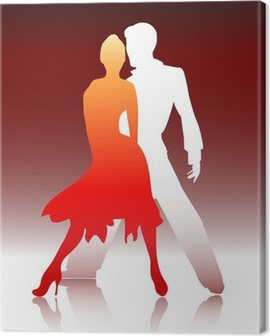 Couple dancing Canvas Print
