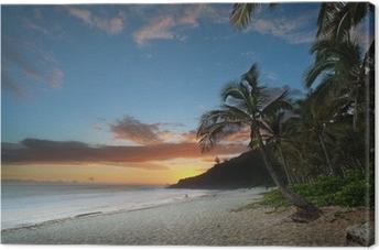 Crépuscule sur Grande-Anse - Ile de La Réunion Canvas Print