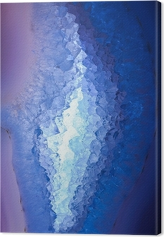 Cross section geode illuminated Canvas Print