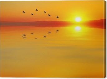 cruzando el mar Canvas Print