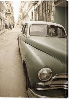 Cuban antique car Canvas Print