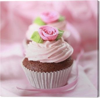 Cupcakes für Verliebte Canvas Print