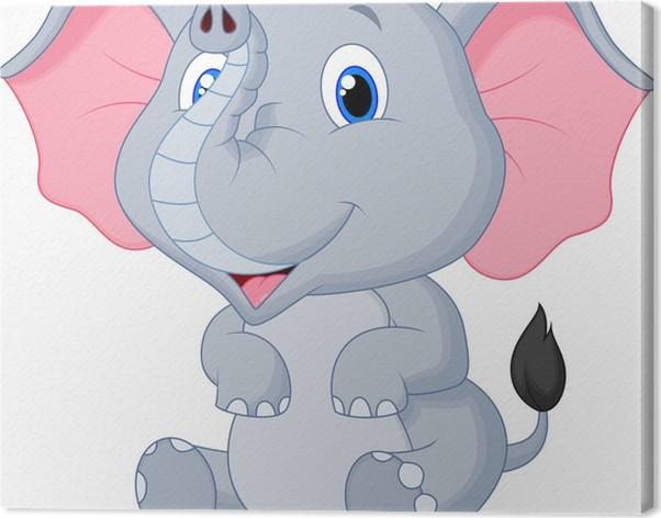 Cute Baby Elephant Cartoon Stock
