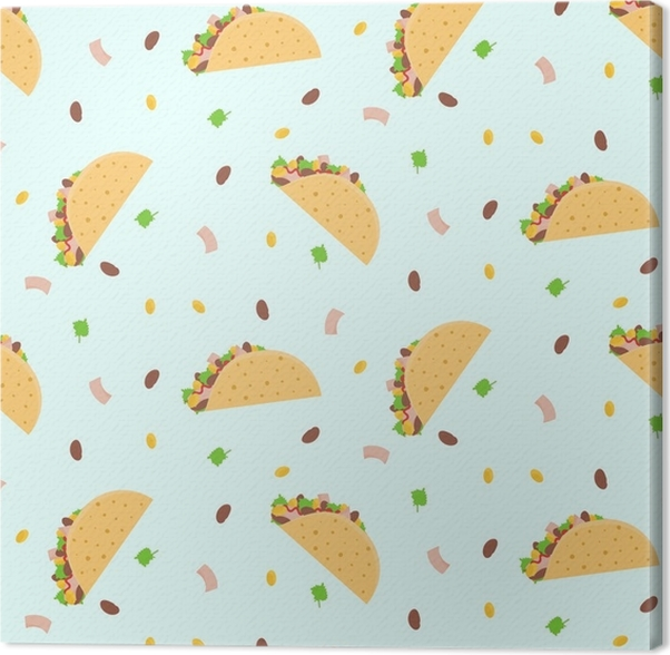 Nice Fastfood Pattern For Textile Cafe And Restaurant Wrapping Paper Covers Banners Background Wallpaper Canvas Print