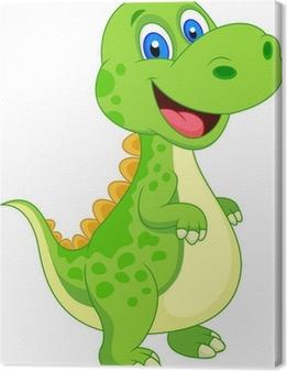Cute dinosaur cartoon Canvas Print