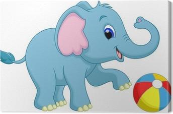 Art Print Of Alphabet E With Elephant Cartoon