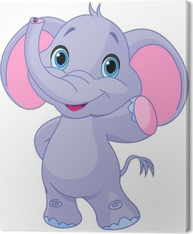 Cute elephant Canvas Print