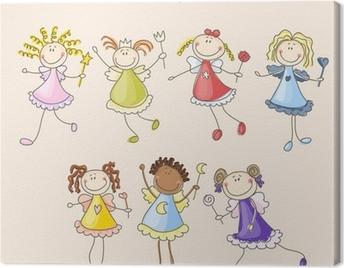 Cute fairies illustration Canvas Print