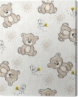 Cute hand draw seamless pattern for kids. Canvas Print