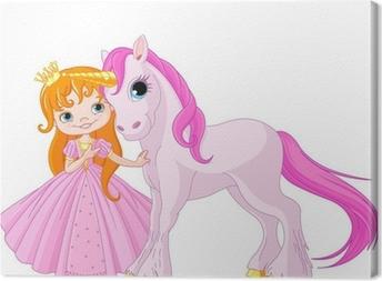 Cute Princess and Unicorn Canvas Print