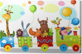 cute train Canvas Print