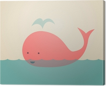 Cute Whale Canvas Print
