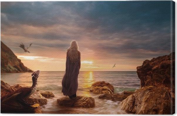 Daenerys Targaryen Canvas Print - Themes