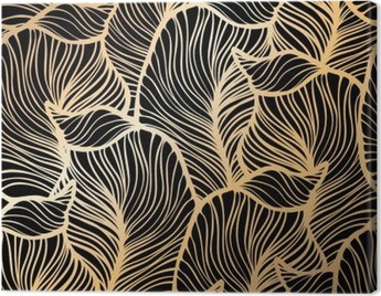Damask seamless floral pattern. Royal wallpaper. Canvas Print