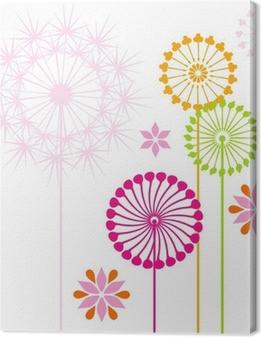 Dandelions colored Canvas Print