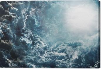 dark sky with moon Canvas Print