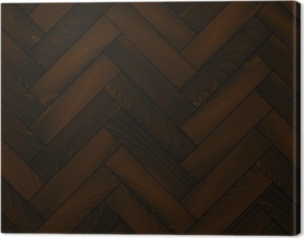 Dark wooden floor realistic chevron parquet seamless background