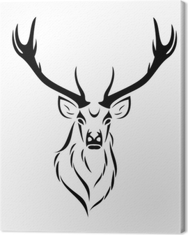 Deer isolated Canvas Print