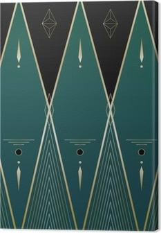 Diamonds Art Deco Background Canvas Print