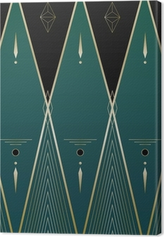 Diamonds Art Deco Background Canvas Print