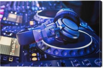 Dj mixer with headphones Canvas Print