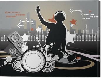 Dj, music concept, illustration Canvas Print