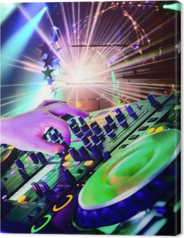 Dj playing the track Canvas Print